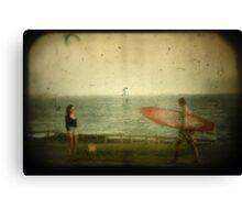 Girl Meets Boy..... Canvas Print