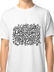 Abstract Structure - Black Classic T-Shirt