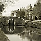 Fradley Junction in Sepia 1 by Jonathan Fletcher