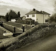 Fradley Junction in Sepia 2 by Jonathan Fletcher