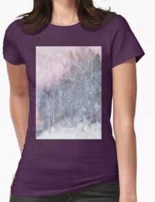 Winter Trees On A Hillside Womens Fitted T-Shirt