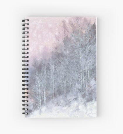 Winter Trees On A Hillside Spiral Notebook