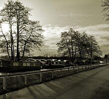 Fradley Junction in Sepia 3 by Jonathan Fletcher