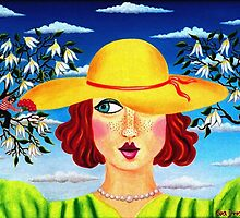 lady with hat and admirers - drosera weisse by fuxart