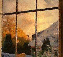 Winter sunset - Belgium by Gilberte
