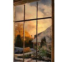 Winter sunset - Belgium Photographic Print