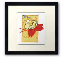 Orange and Red Fairy Cat Framed Print