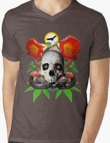 Ethnobotanical Skull-1 Mens V-Neck T-Shirt