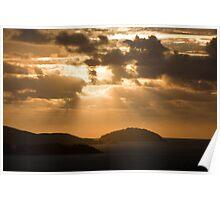Morning rays of light Poster