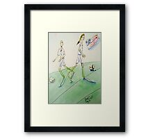 Soccer Women Framed Print