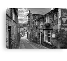 Slate Houses in the Lake District B&W Canvas Print