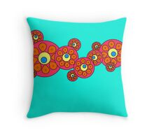 Circling Orange Throw Pillow