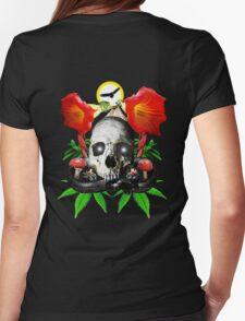 Ethnobotanical Skull-2 Womens Fitted T-Shirt