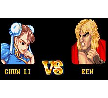 CHUN LI VS KEN - FIGHT! Photographic Print