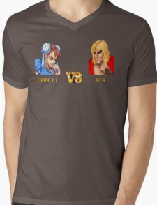 CHUN LI VS KEN - FIGHT! Mens V-Neck T-Shirt