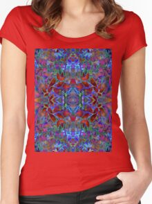 Fractal Floral Abstract Women's Fitted Scoop T-Shirt