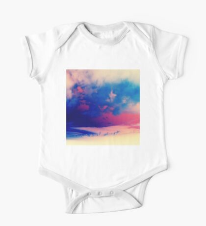 Inverted Clouds One Piece - Short Sleeve
