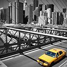 Brooklyn Bridge Taxi by Tom  Marriott