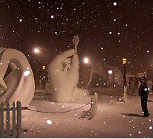 Snow Sculptures, Breck. Photographic Print