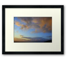 Evening Clouds Framed Print