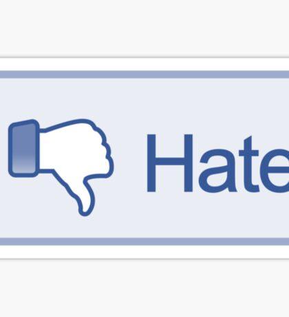 Hate Button T-Shirt Sticker