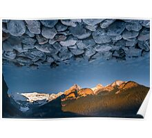 Rocky Skies at Lake Louise Poster