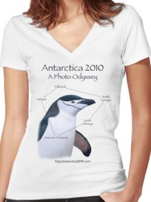 Antarctica 2010: A Photo Odyssey Women's Fitted V-Neck T-Shirt
