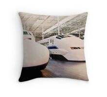 Bullet Trains Throw Pillow
