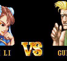 CHUN LI VS GUILE - FIGHT! by PIXLTEES