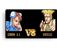 CHUN LI VS GUILE - FIGHT! Canvas Print