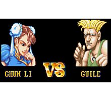 CHUN LI VS GUILE - FIGHT! Photographic Print