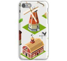 Isometric Great American Barn Set iPhone Case/Skin