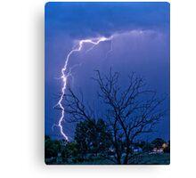 17th Street  Lightning Strike Canvas Print