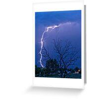 17th Street  Lightning Strike Greeting Card