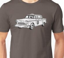 Checkered Taxi Cab Illustrastion Unisex T-Shirt