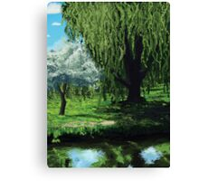Waterside Willow Canvas Print