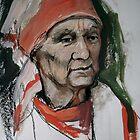 Portrait of my grandma Nina Semyonovna, ex-anti-Nazi guerilla by Alla Melnichenko