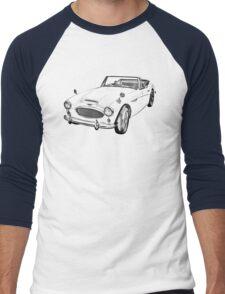 Austin Healey 300 Sports Car Drawing Men's Baseball ¾ T-Shirt