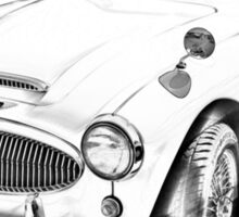 Austin Healey 300 Sports Car Drawing Sticker