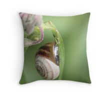 A Slimey Place Throw Pillow