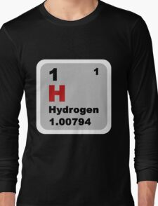 Periodic Table of Elements: No. 1 hydrogen Long Sleeve T-Shirt