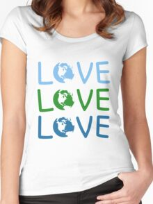 L O V E - Earth Day Women's Fitted Scoop T-Shirt