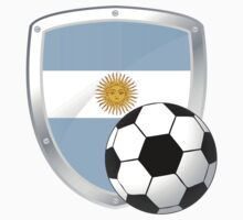 argentina shield soccer with the sun of may by Alejandro Durán Fuentes