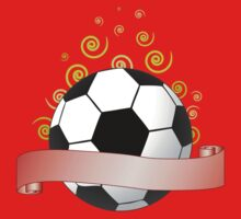 soccer ribbon with green curls in the air by Alejandro Durán Fuentes