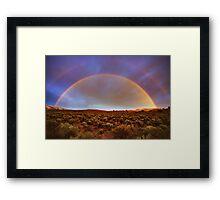 Post tstorm Rainbow Framed Print