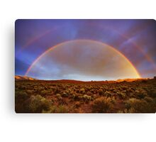 Post tstorm Rainbow Canvas Print