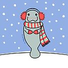 Snow Day Manatee by zoel