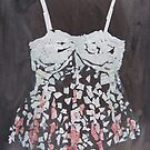 A corset in pink and white by Catrin Stahl-Szarka