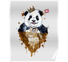 Free Hugs Panda Poster
