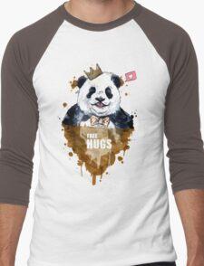 Free Hugs Panda Men's Baseball ¾ T-Shirt